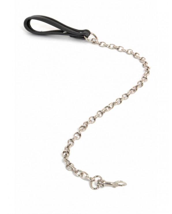 Guinzaglio in similpelle con catena in metallo