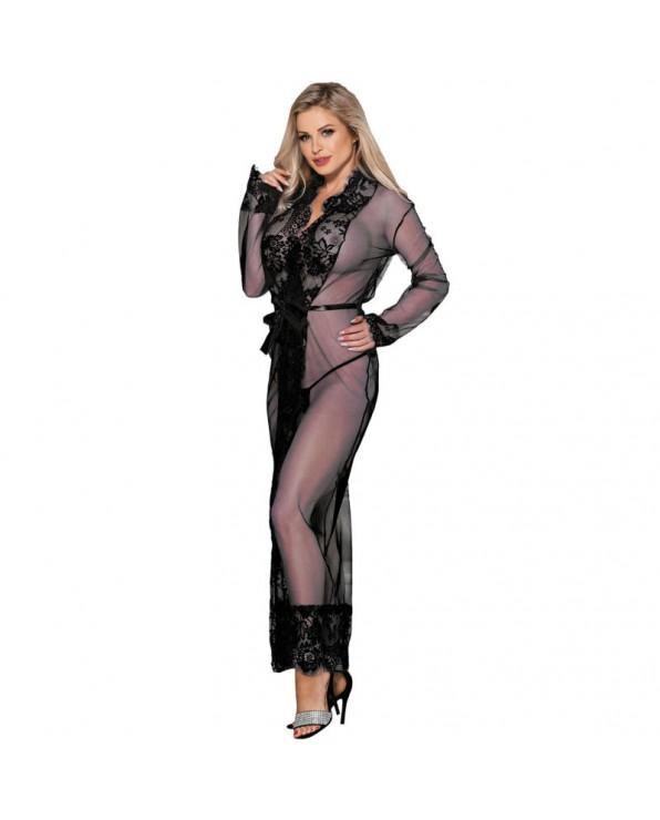 Vestaglia sensuale nera con maniche lunghe - Subblime