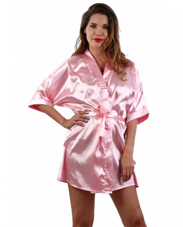 Kimono Rosa In Raso - Taglia Unica