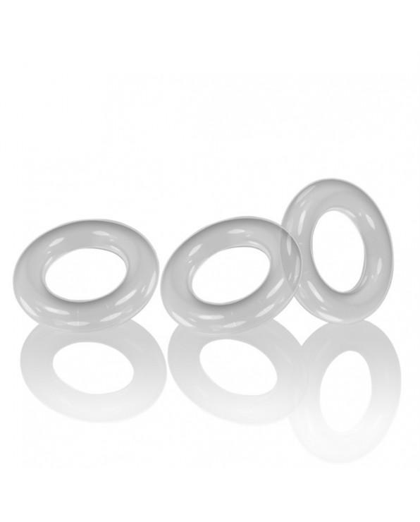 Oxballs WILLY RINGS confezione da 3 anelli fallici - Trasparenti