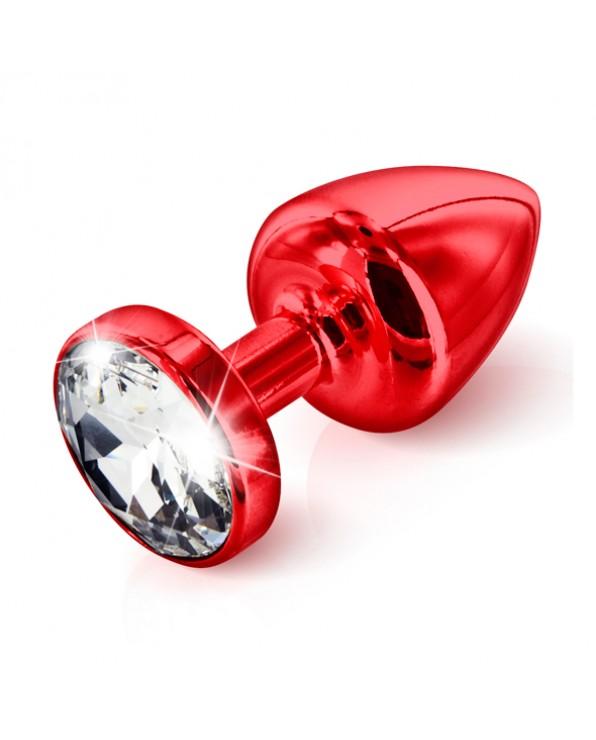 Plug Rosso Con Cristallo Trasparente Anni - Diogol