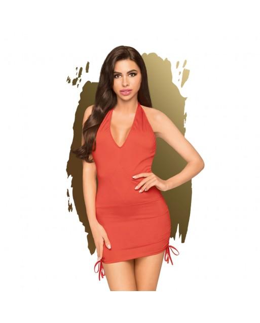 Mini abito rosso con perizoma - Penthouse Lingerie