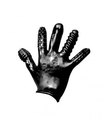 Guanto Finger Fuck con rilievi stimolanti - Nero - Oxball
