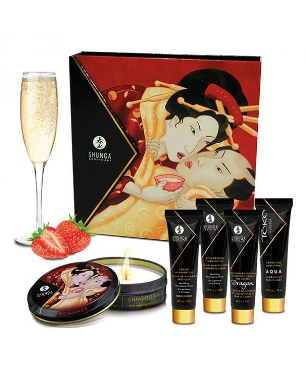 Set regalo Spumante Geisha alla fragola - Shunga