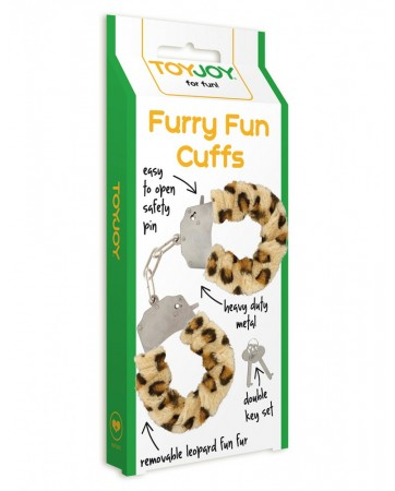 Manette con pelo-Fun Furry TOYJOY- Leopardo