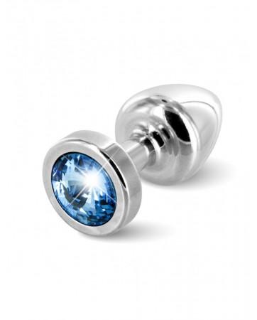 Plug con cristallo azzurro Anni - Diogol - Argento