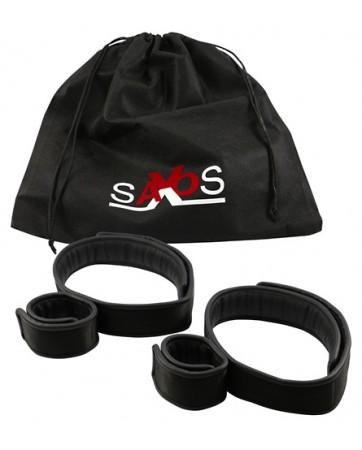 Fasce per cosce con manette - Saxos