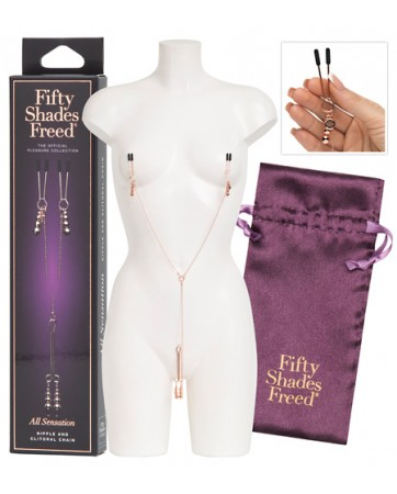 """Nipple And Clitoral Chain """"All Sensation"""" - Fifty Shades Freed"""
