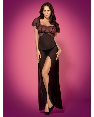 Sedusia gown and thong black