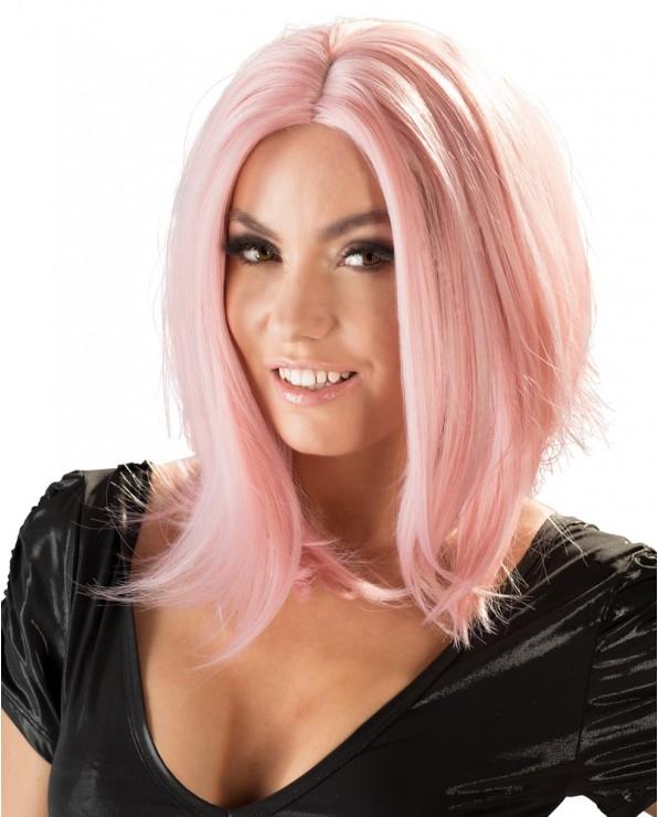Parrucca Bob rosa