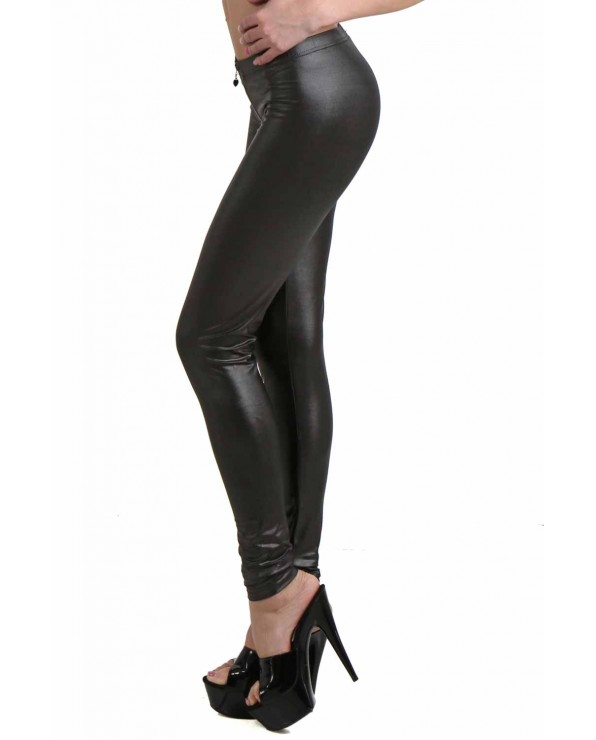 Legging nero a vita bassa - Clubwear