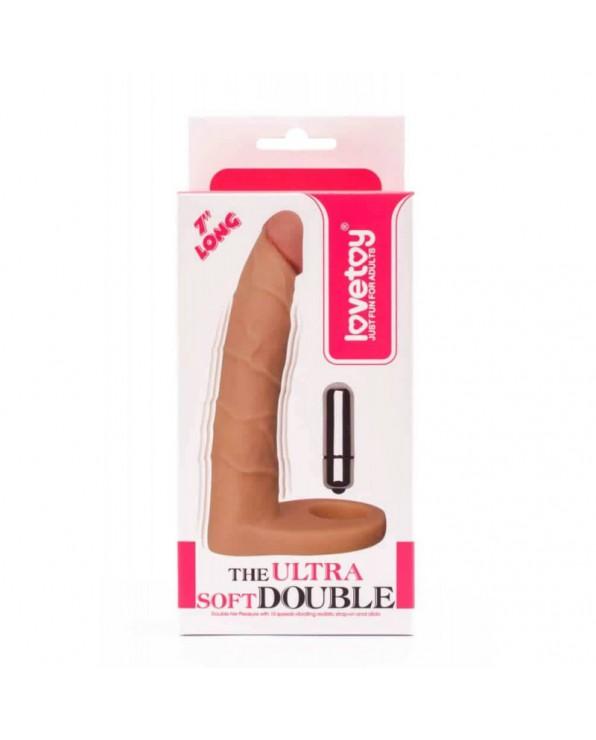 Dildo con anello per doppia penetrazione - Ultra Soft Double-Vibrating
