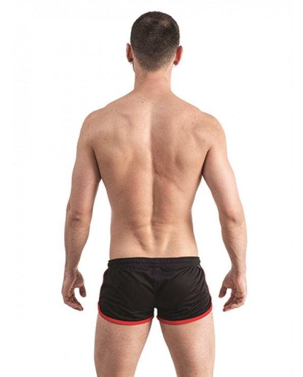 Mister B URBAN Ibiza Shorts Black Red