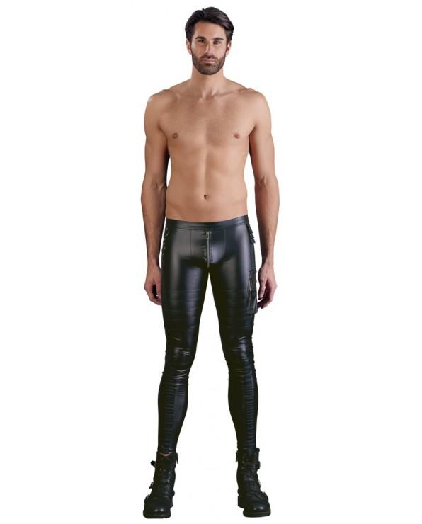 Pantalone nero attillato da uomo