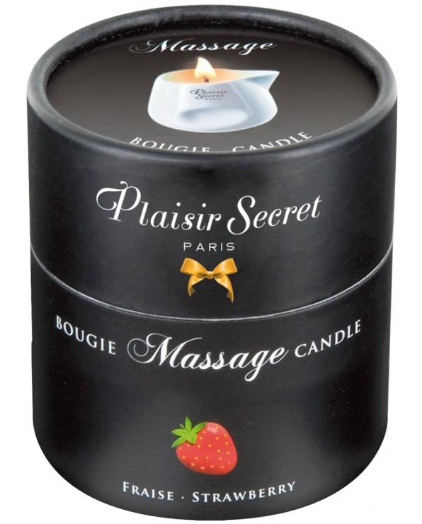 Candela da massaggio alla fragola - Plaisir Secret