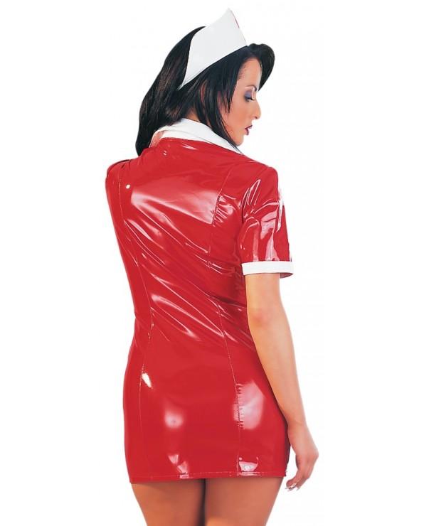 Sexy infermiera in vinile rosso - Black Level