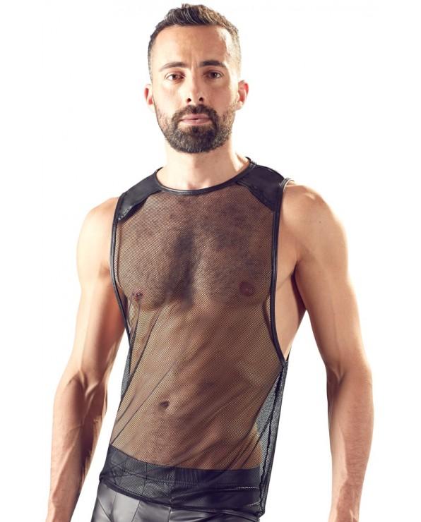 Shirt a rete, senza maniche