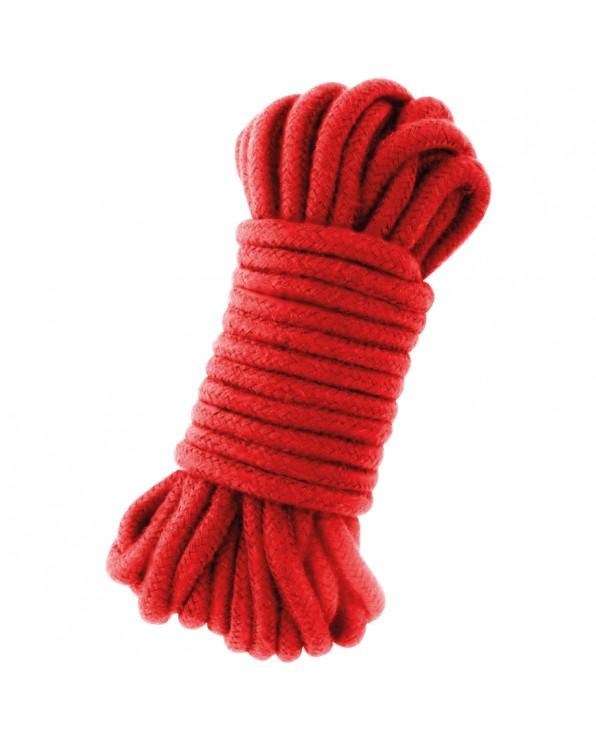 Corda rossa per bondage 10 mt - Darkness Kinbaku
