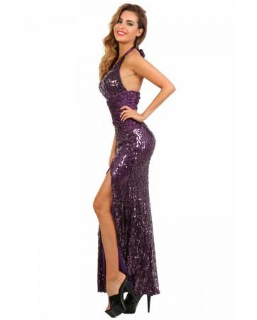 Abito glamour Viola - taglia M