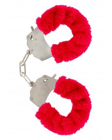 Manette con pelo-Fun Furry - Rosso