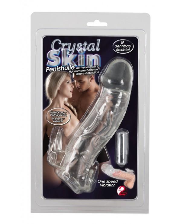 Crystal Skin Penis Sleeve Vibro