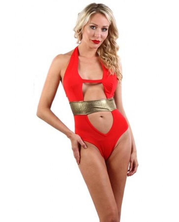 Costume  da bagno Monokini Rosso - Spazm
