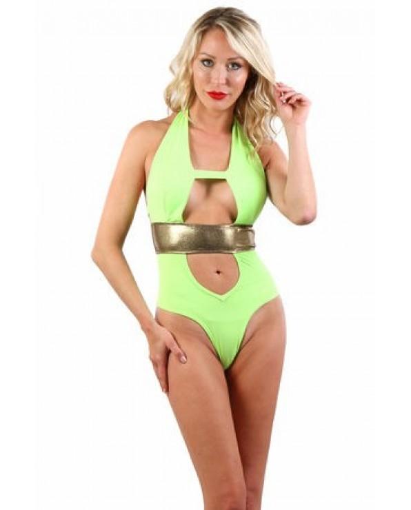 Costume  da bagno Monokini Verde Fluo - Spazm