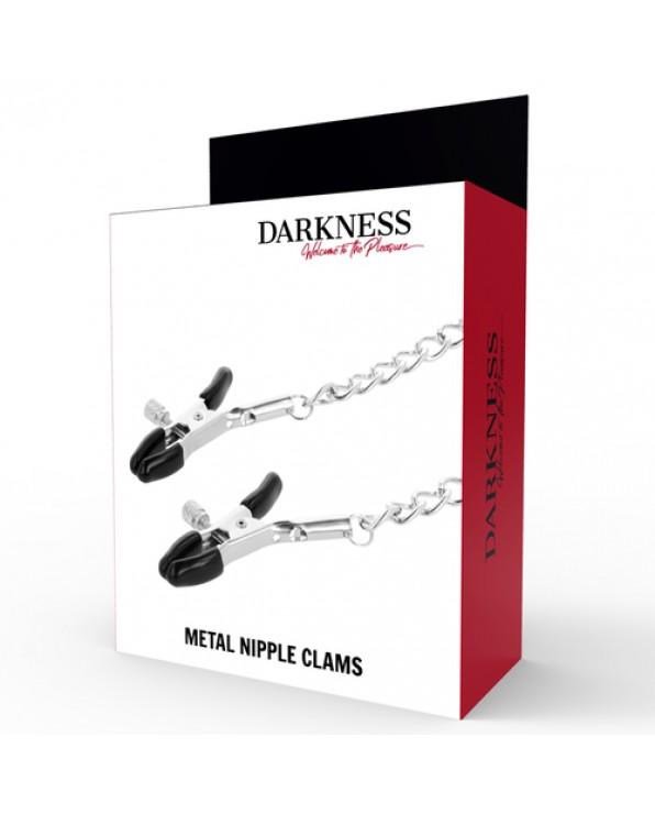 Pinzette per capezzoli regolabili - Darkness