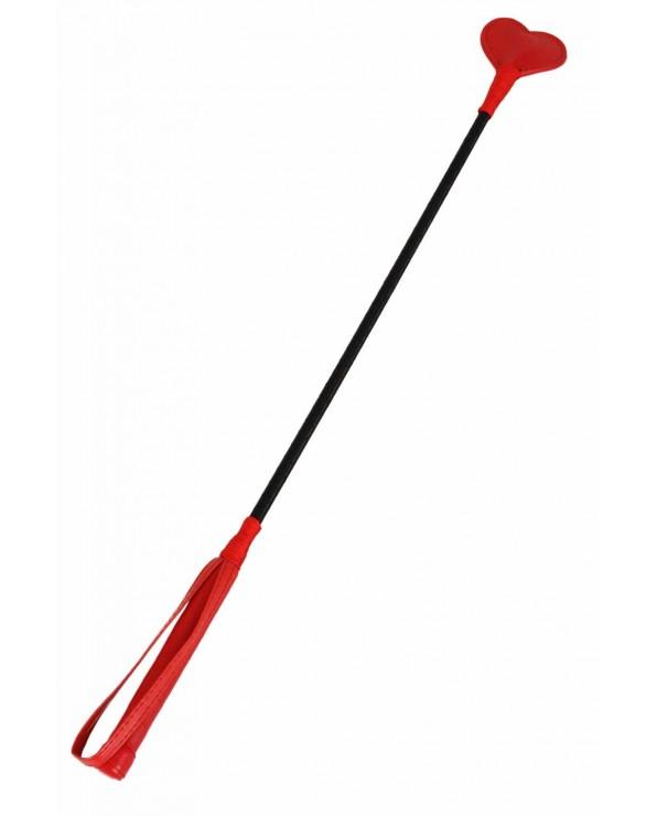 Frustino da equitazione rosso - 62 cm