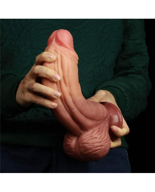 """DUAL LAYERED SILICONE NATURE COCK 10"""" - LOVETOY"""