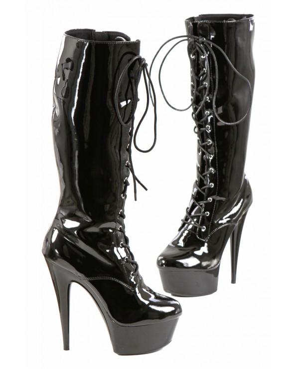 Stivali in vinile nero - Soisbelle