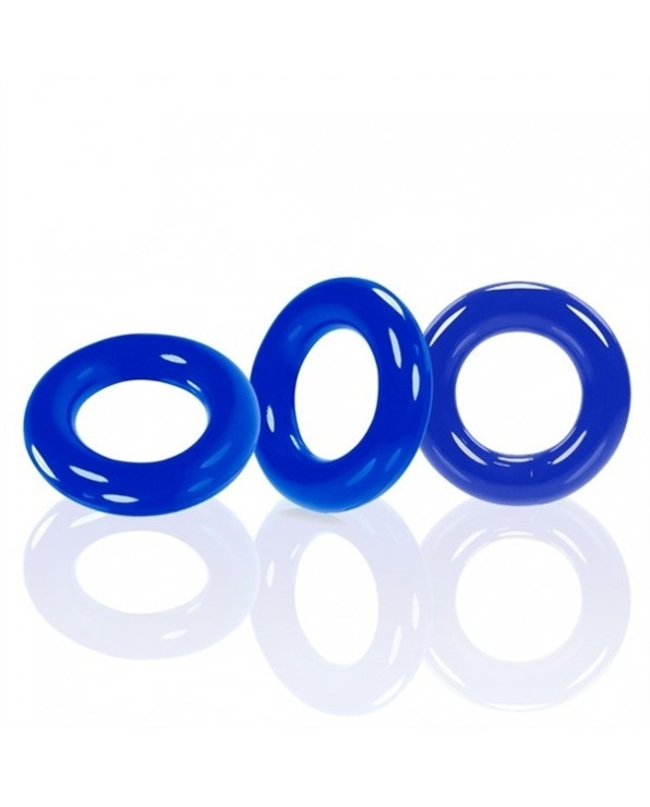 Oxballs WILLY RINGS confezione da 3 anelli fallici - Police Blue