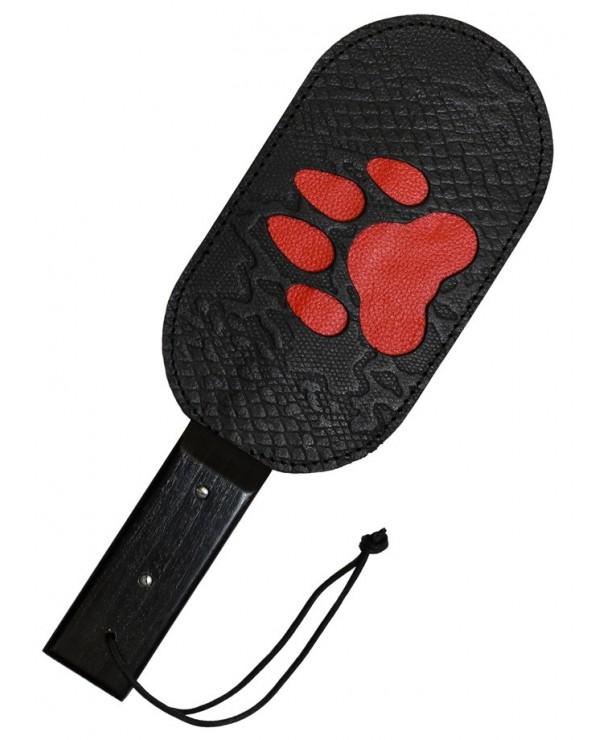 Pagaia Puppy Paw in vera pelle con zampa rossa