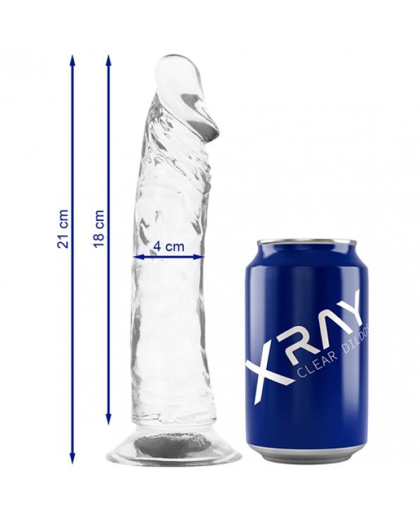XRAY CLEAR COCK 21 CM X 4 CM